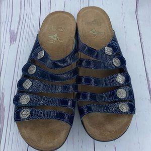 Dansko Janie 11 Strap Sandals Blue Medallion EU 41